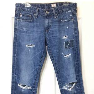 AG boyfriend destroyed jeans size 27